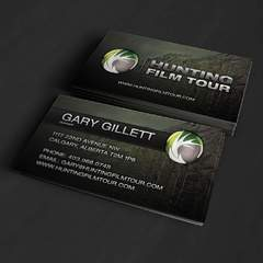 Hire Grant Darrah - Portfolio - Hunting Film Tour Business Cards