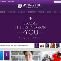 Hire Rob Kreger - Portfolio - Spring Hill College Website