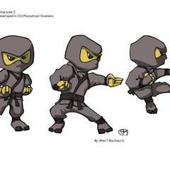Hire Pete Martinez - Portfolio - Ninja Poses 2