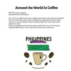 Hire Lara Louise Antonio - Portfolio - Around the World in Coffee