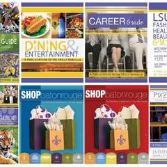 Hire Mary Seale - Portfolio - LSU Student Media Special Section Cover Designs