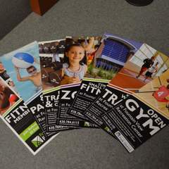 Hire Ian Everett - Portfolio - Fountain View Fitness Rack Card Series