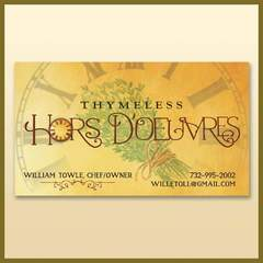 Hire Ken Banick - Portfolio - Thymeless Hors D'oeuvres Logo and Business Card