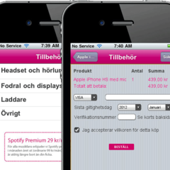 Hire Gabriel Sandberg - Portfolio - iPhone shopping-app for TeliaSonera