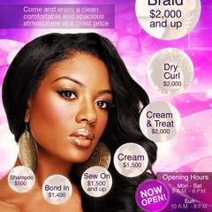 Hire Oneil Hadams - Portfolio - Salon Flyer Redesign