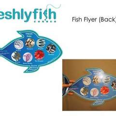 Hire Louise Bernadette Bañez - Portfolio - Freshly Fish Flyer (Back)