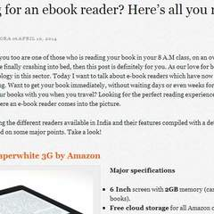 Hire Shivankit  Arora - Portfolio - Analysis of best e-book readers
