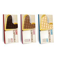 Hire Marta Sobczak - Portfolio - Slimpossible Chocolate packaging