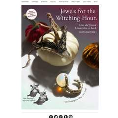 Hire Elizabeth Lapinsky - Portfolio - Catbird Jewelry Halloween Marketing Email
