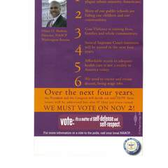 Hire mariam khan - Portfolio - Mailing flyers aimed at African Americans