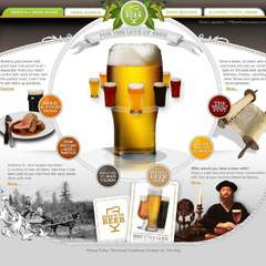 Hire Uriah Shadle - Portfolio - Here's to Beer Website