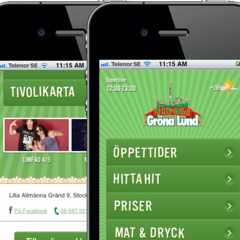 Hire Gabriel Sandberg - Portfolio - Mobile web for the amusement park Gröna Lund