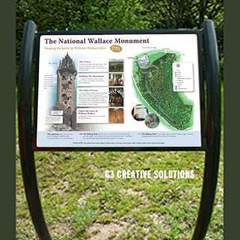 Hire Marianne McDougall - Portfolio - Wallace Monument Scotland interpretation panel.