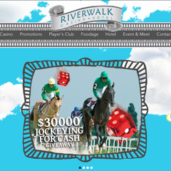 Hire Rob Kreger - Portfolio - Riverwalk Casino Hotel Website