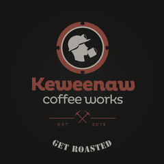 Hire Laura Galindo - Portfolio - Keweenaw Coffee Works Logo