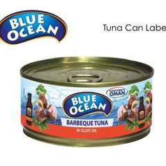 Hire Louise Bernadette Bañez - Portfolio - Blue Ocean Tuna Can Label Design