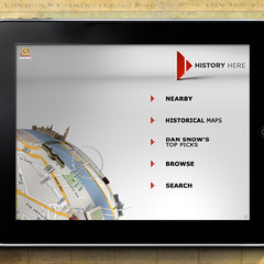 """Hire Tom McDaid - Portfolio - """"The History Channel - History Here"""" Mobile App"""