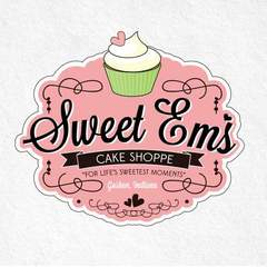 Hire Elyse Myers - Portfolio - Logo for Sweet Em's Cake Shoppe