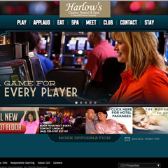 Hire Rob Kreger - Portfolio - Harlow's Casino Resort & Spa Website