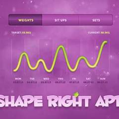 Hire Dtail Studio - Portfolio - Shape Right - iPhone App
