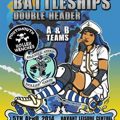 Hire Sarah Ingram - Portfolio - Poster Design for Portsmouth Roller Wenches