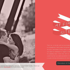 Hire Ashley Ruggirello - Portfolio - At First Site, Wedding Website Design