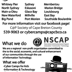 Hire Caroline Poirier - Portfolio - Parade Flyer for C@P Society of Cape Breton