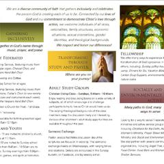 Hire Janel States James - Portfolio - Tri-Fold Brochure for Federated Church