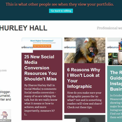 Hire Sharon Hurley Hall - Portfolio - Stories for Unbounce