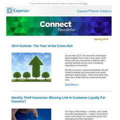 Hire Kyle Sox - Portfolio - Experian Connect Newsletter