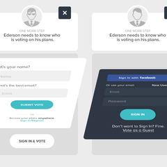 Hire Ederson Morche - Portfolio - Sign In Modal
