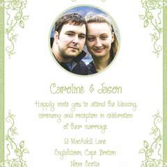 Hire Caroline Poirier - Portfolio - Wedding Invitation for myself