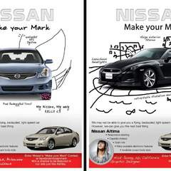 Hire Mary Seale - Portfolio - Nissan Print Advertisements: Make Your Mark