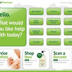 Hire Alan Lowbridge - Portfolio - Lloyds Pharmacy Interface Design