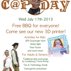 Hire Caroline Poirier - Portfolio - C@P Day Poster designed for C@P Society of CB
