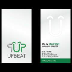 Hire Michelle E - Portfolio - Upbeat Logo and Business Card