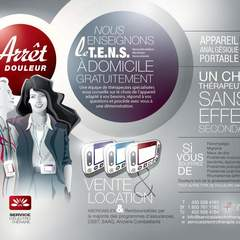 Hire louca mee - Portfolio - Accordion folded flyer. - Front