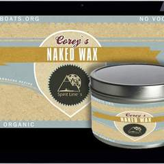 Hire Janine Barbosa - Portfolio - Naked Wax - Label Design