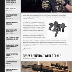Hire Harry Ford - Portfolio - Trojan Airsoft blog design