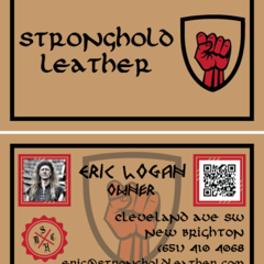Hire Tyler B - Portfolio - Stronghold Leather Business Cards