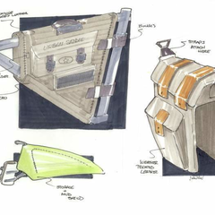 Hire John Almstead - Portfolio - Sketches for saddle bags