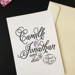 Hire Nikki Robles - Portfolio - Wedding Save the Date Invitation