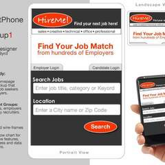 Hire Nicholas Byrd - Portfolio - Conceptual Process: Mockup#1 Job Search/Mobile App