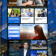 Hire Laura Galindo - Portfolio - Solex College website