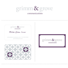 Hire Stacey Meacham - Portfolio - grimm & grove logo and branding components