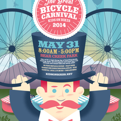 Hire Andrew Elsass - Portfolio - Kids on Bikes: The Great Bicycle Carnival poster