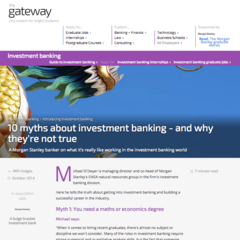 Hire Will Hodges - Portfolio - Morgan Stanley: Investment Banking Article Series