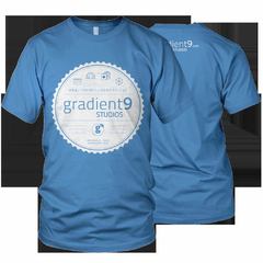 Hire Grant Darrah - Portfolio - Gradient 9 Studios Badge Shirt