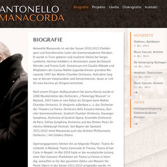 Hire Sebastian Hartmann - Portfolio - Website for Antonello Manacorda