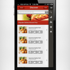 Hire Shoaib Ahmad - Portfolio - Food Whistle - Menu screen
